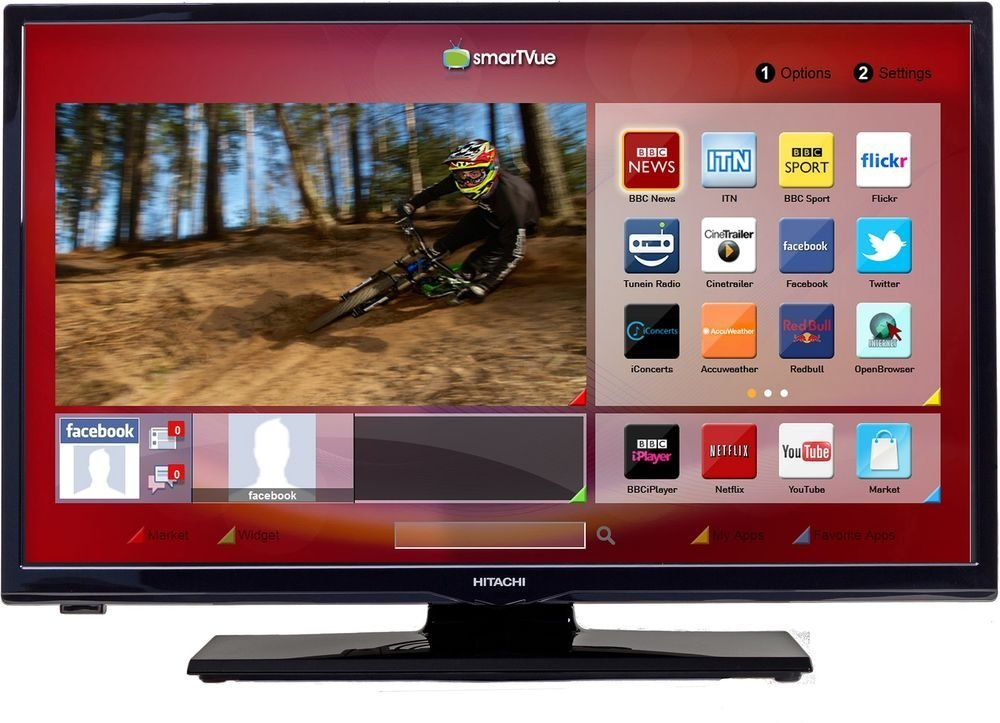 "Hitachi 32HYT46 LED TV 32"" Full HD Freeview HD Smart PC input"