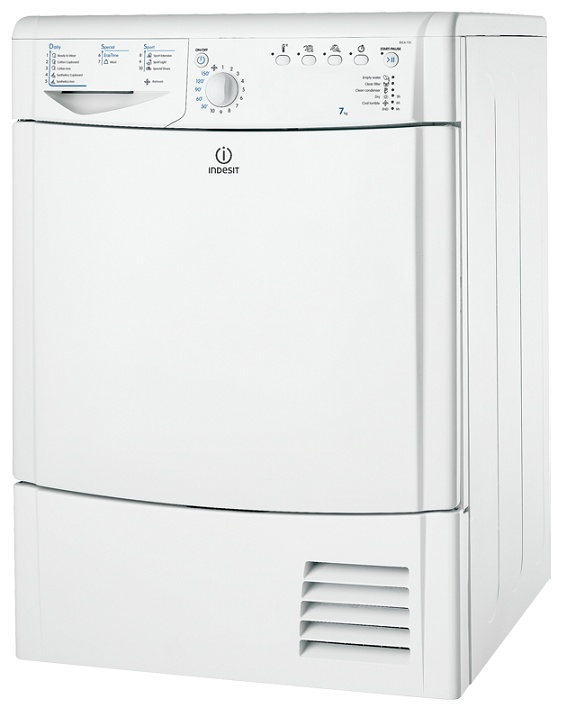 Indesit IDCA735 Condenser Tumble Dryer 7kg Drum Capacity 112 L