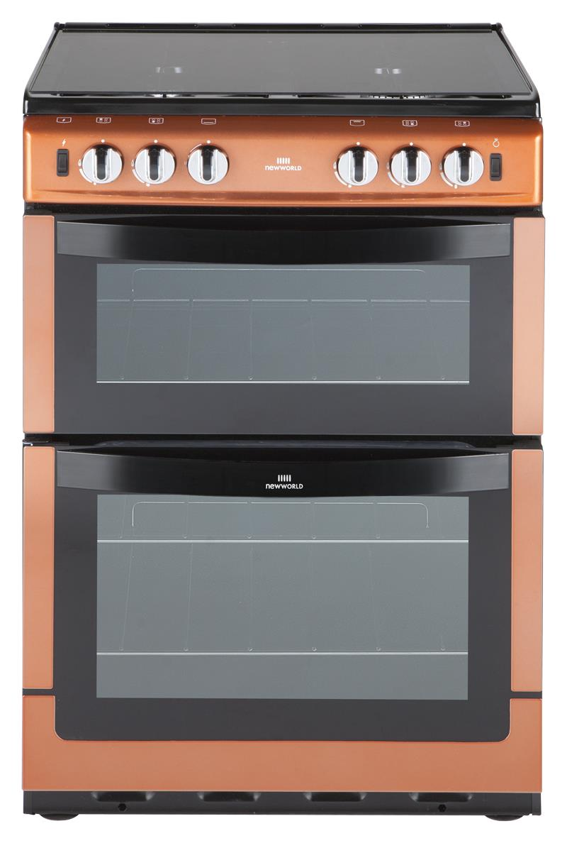New World NW601GDOL 60cm Wide Gas Twin Cavity Cooker