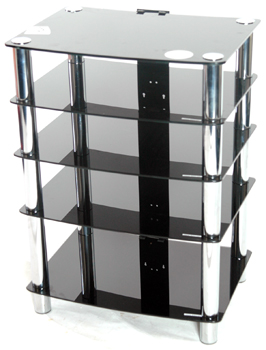 GT6 GLASS STAND (black glass)