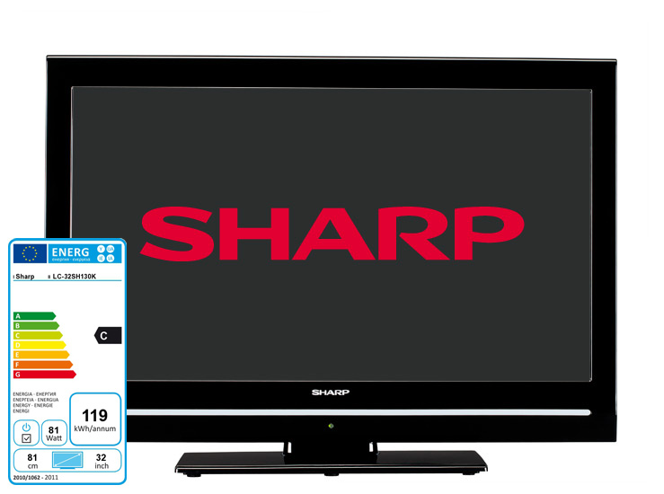 "SHARP LC32SH130K LCD TV 32"" HD Ready HDMI USB Freeview Tuner"