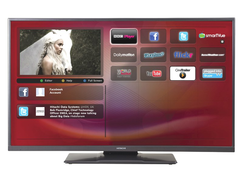 "Hitachi 42HXT12 LED TV 42"" Full HD 1080p Smart Freeview HD USB 2"